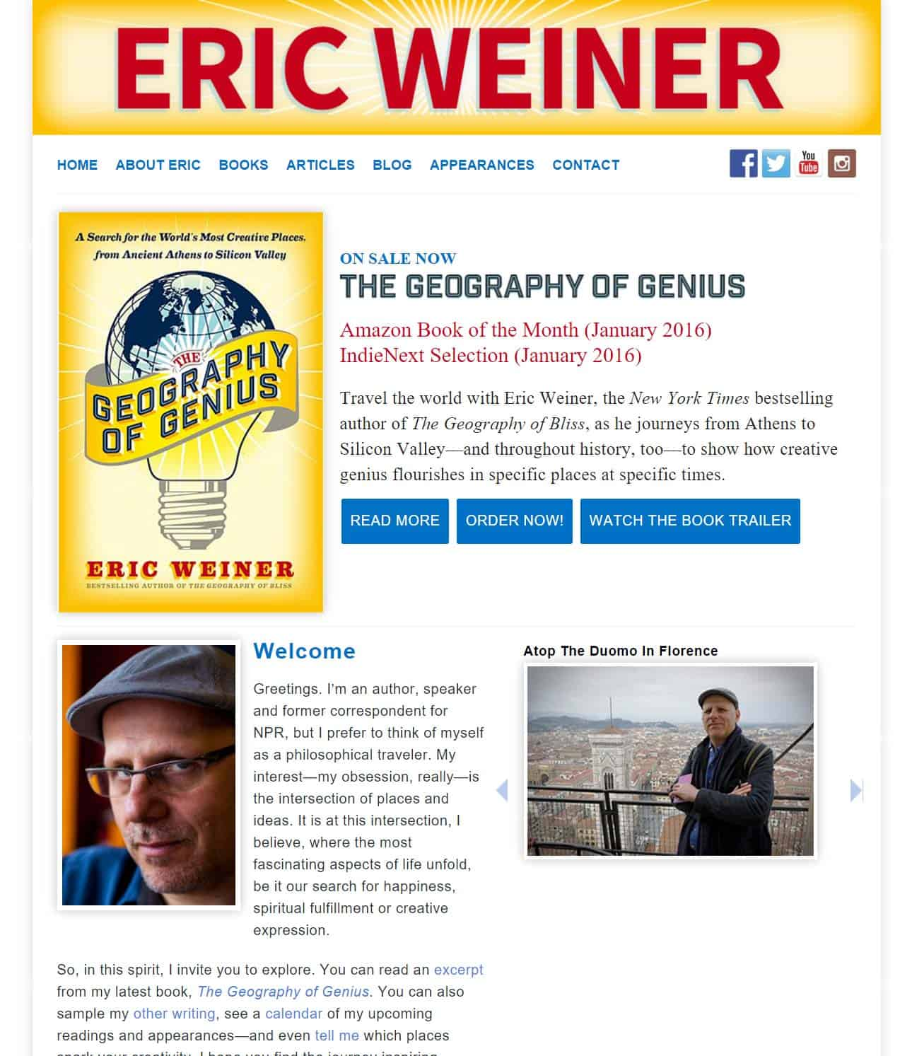 the geography of bliss written by eric weiner Geography of bliss by eric weiner tip 1: participating in a community event enriches your daily life and is a great opportunity to meet new people h a p p i n.