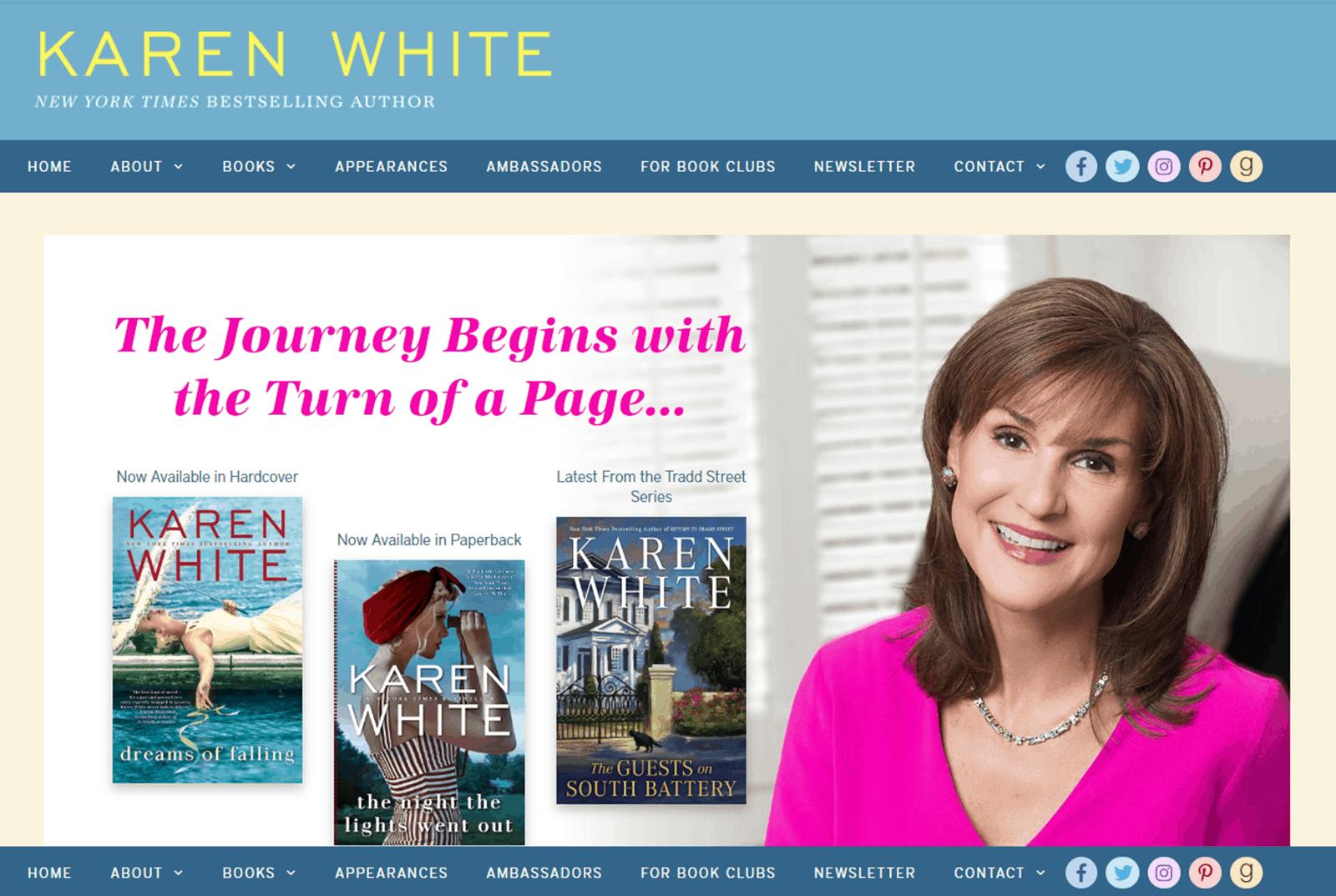 Karen White 2018 Website Update
