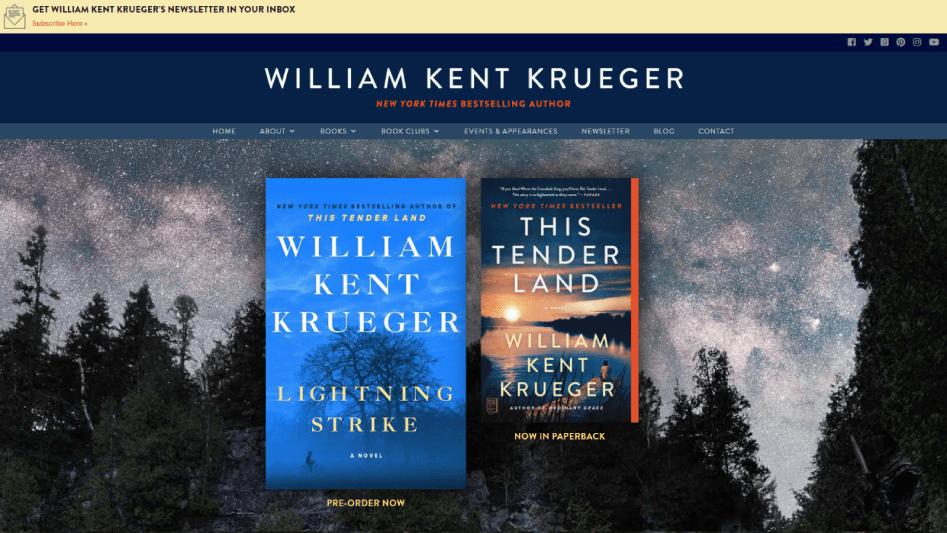 William Kent Krueger Website Featured Image 2021